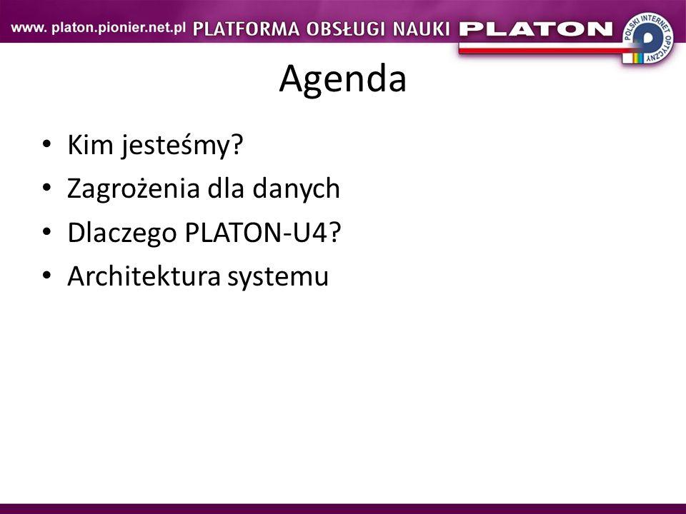 Agenda Kim jesteśmy Zagrożenia dla danych Dlaczego PLATON-U4