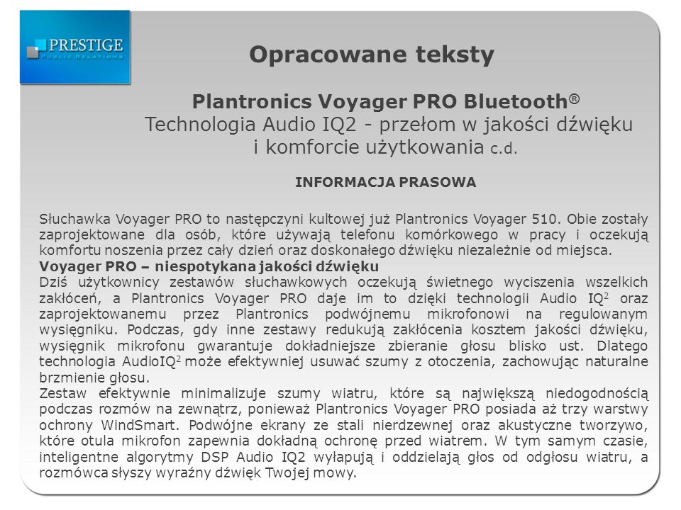 Plantronics Voyager PRO Bluetooth®