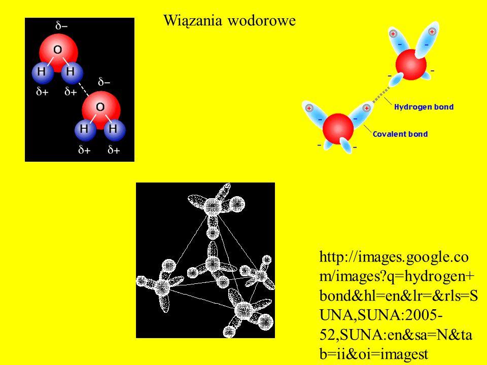 Wiązania wodorowe http://images.google.com/images q=hydrogen+bond&hl=en&lr=&rls=SUNA,SUNA:2005-52,SUNA:en&sa=N&tab=ii&oi=imagest.