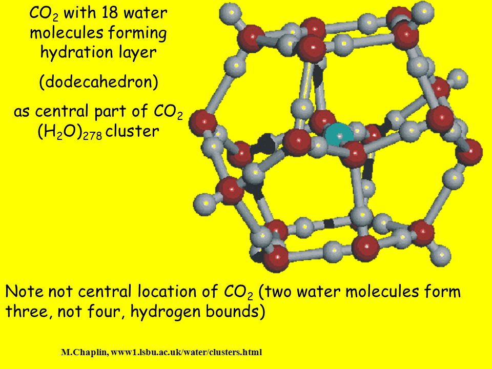 CO2 with 18 water molecules forming hydration layer
