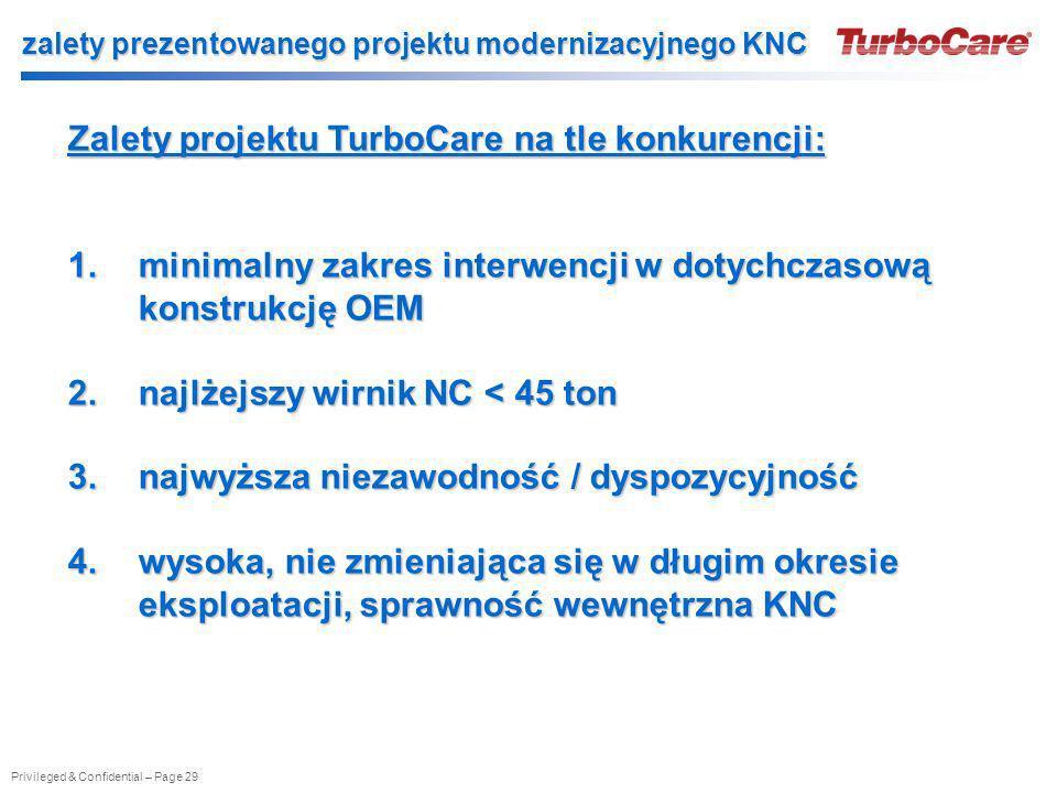 zalety prezentowanego projektu modernizacyjnego KNC