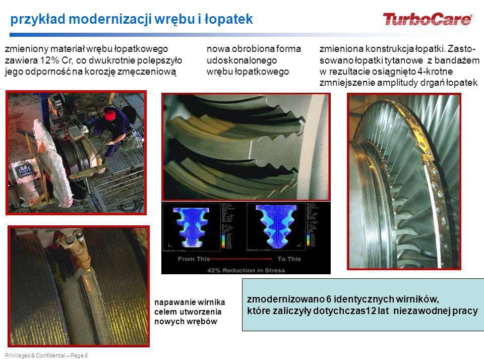 przykład modernizacji wrębu i łopatek