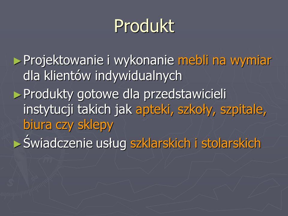 Produkt Projektowanie i wykonanie mebli na wymiar dla klientów indywidualnych.