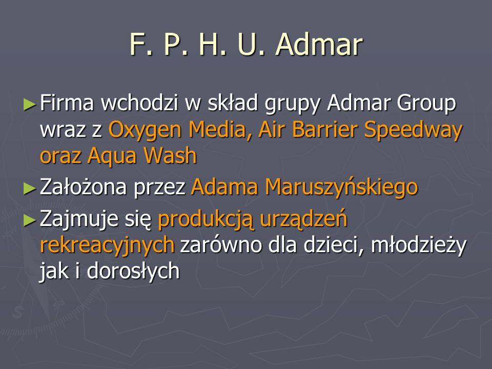 F. P. H. U. Admar Firma wchodzi w skład grupy Admar Group wraz z Oxygen Media, Air Barrier Speedway oraz Aqua Wash.