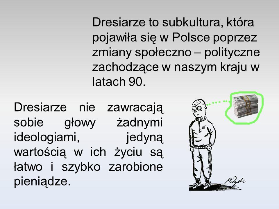 Dresiarze to subkultura, która pojawiła się w Polsce poprzez zmiany społeczno – polityczne zachodzące w naszym kraju w latach 90.
