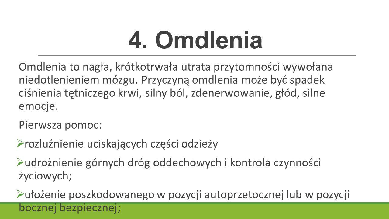 4. Omdlenia