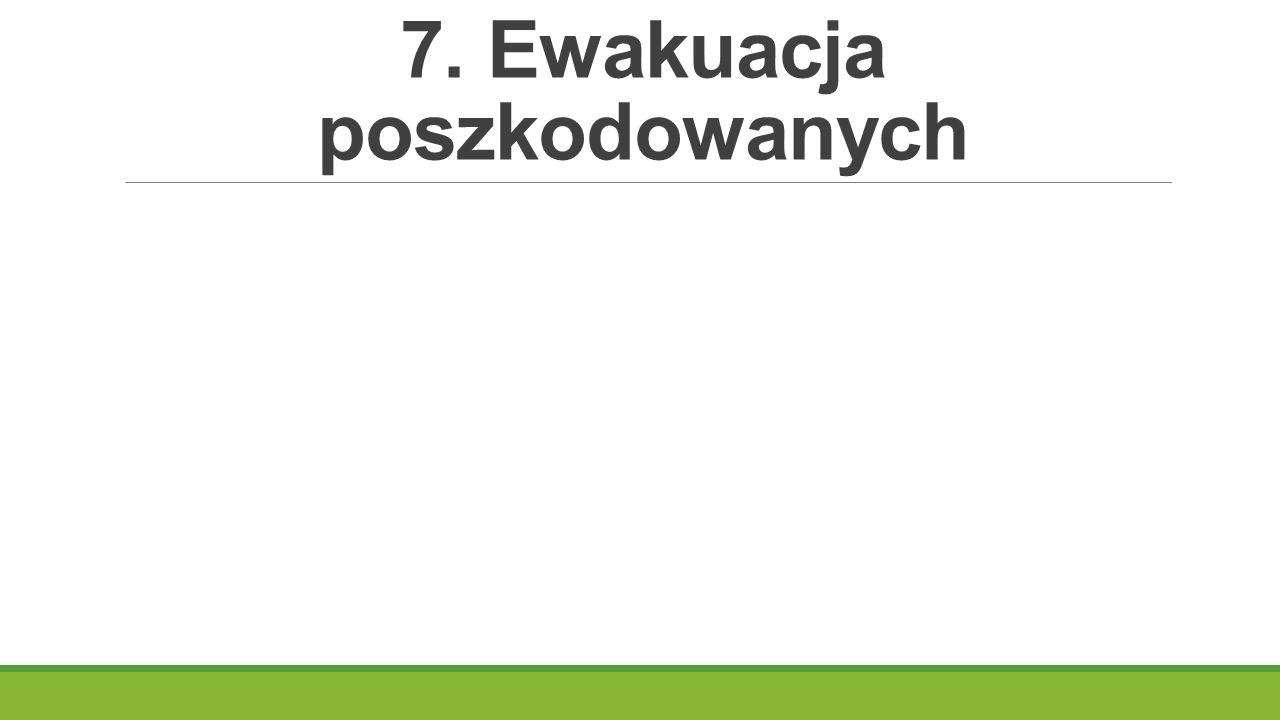 7. Ewakuacja poszkodowanych
