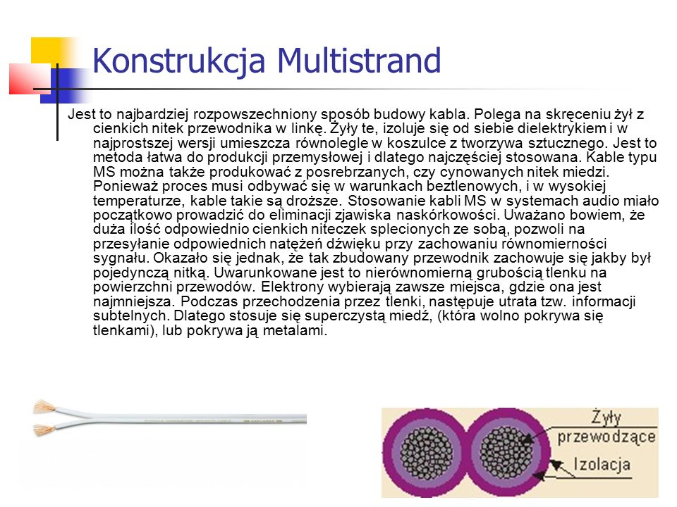 Konstrukcja Multistrand