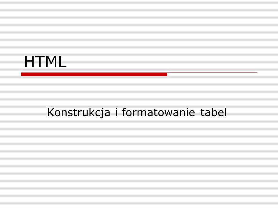 Konstrukcja i formatowanie tabel