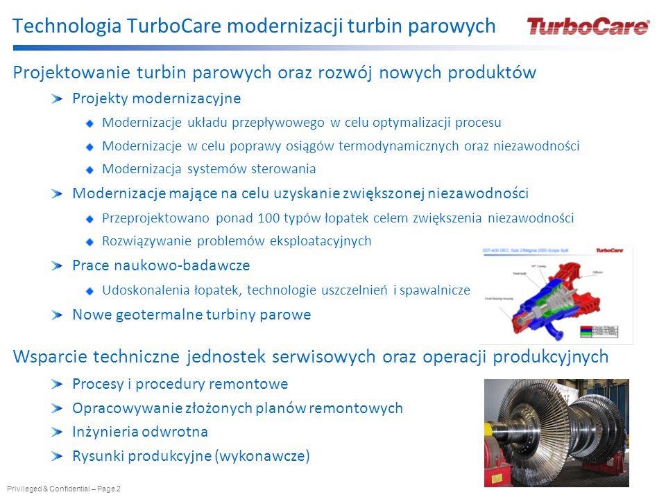 Technologia TurboCare modernizacji turbin parowych