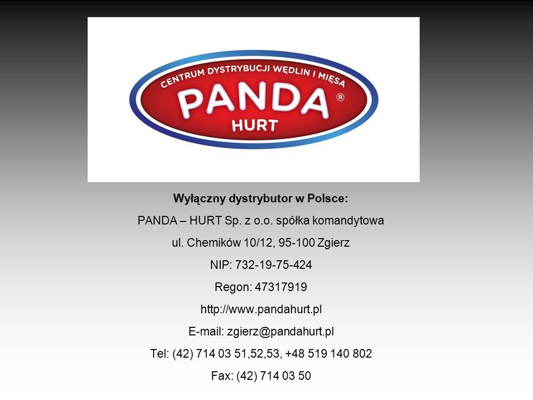 Wyłączny dystrybutor w Polsce: PANDA – HURT Sp. z o. o