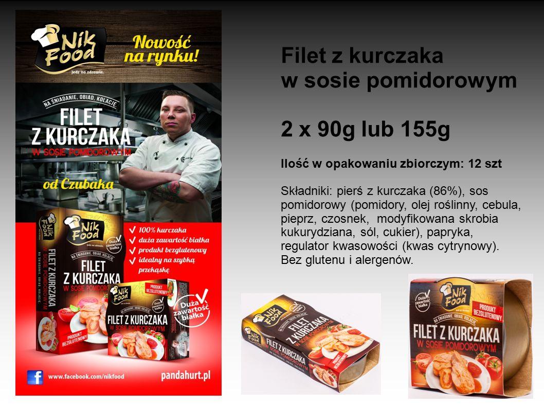 Filet z kurczaka w sosie pomidorowym 2 x 90g lub 155g