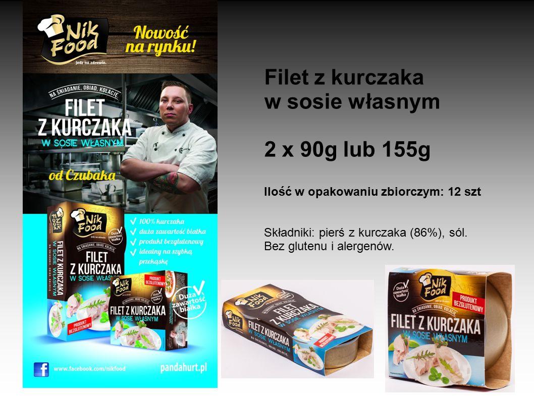 Filet z kurczaka w sosie własnym 2 x 90g lub 155g