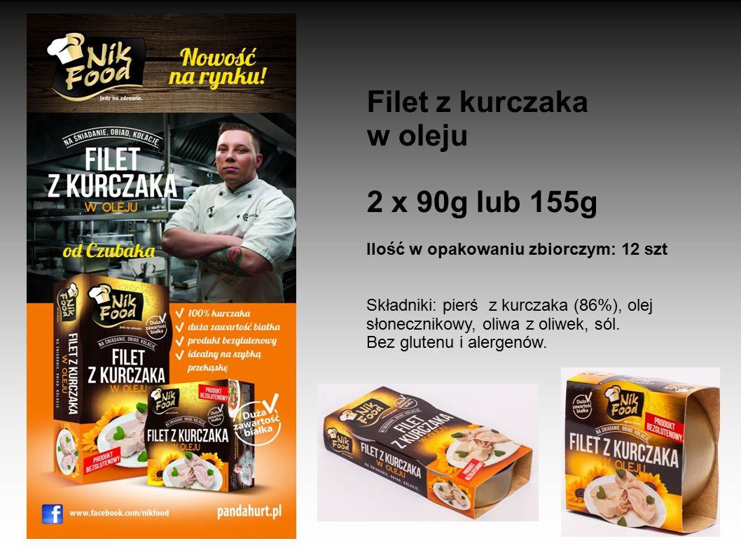 Filet z kurczaka w oleju 2 x 90g lub 155g