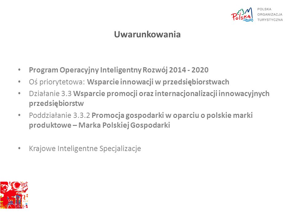 Uwarunkowania Program Operacyjny Inteligentny Rozwój 2014 - 2020