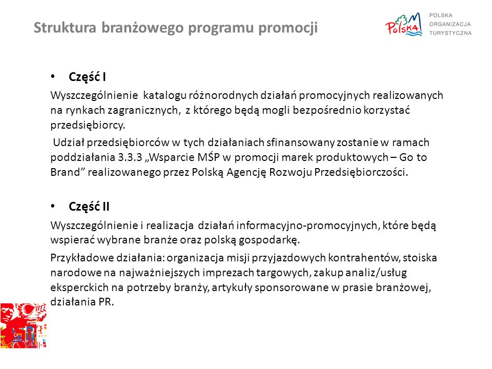 Struktura branżowego programu promocji