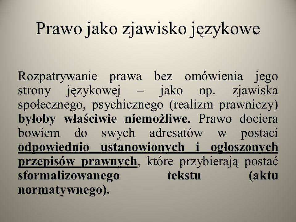 Prawo jako zjawisko językowe
