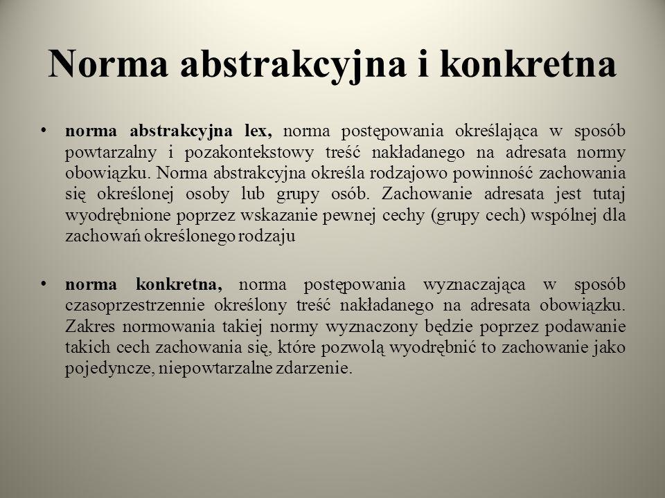 Norma abstrakcyjna i konkretna