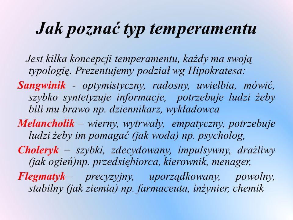 Jak poznać typ temperamentu