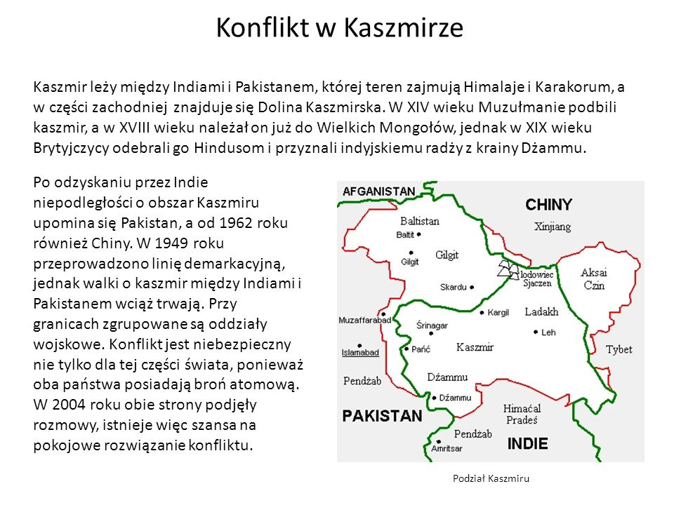 Konflikt w Kaszmirze