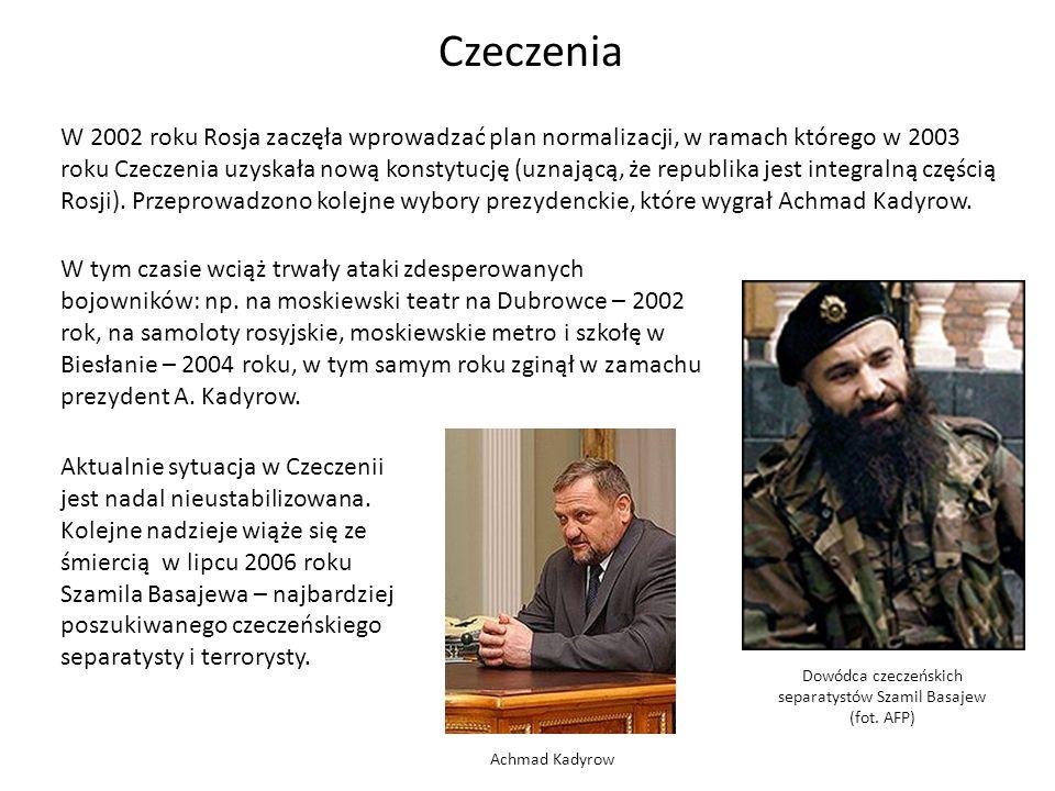 Dowódca czeczeńskich separatystów Szamil Basajew (fot. AFP)