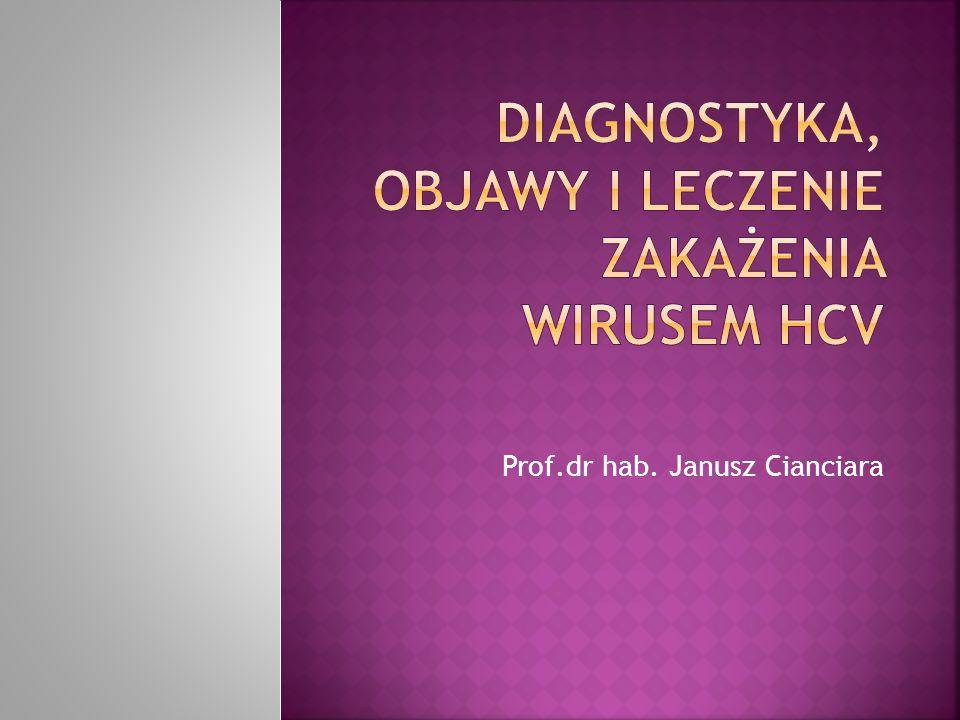 Diagnostyka, objawy i leczenie zakażenia wirusem HCV