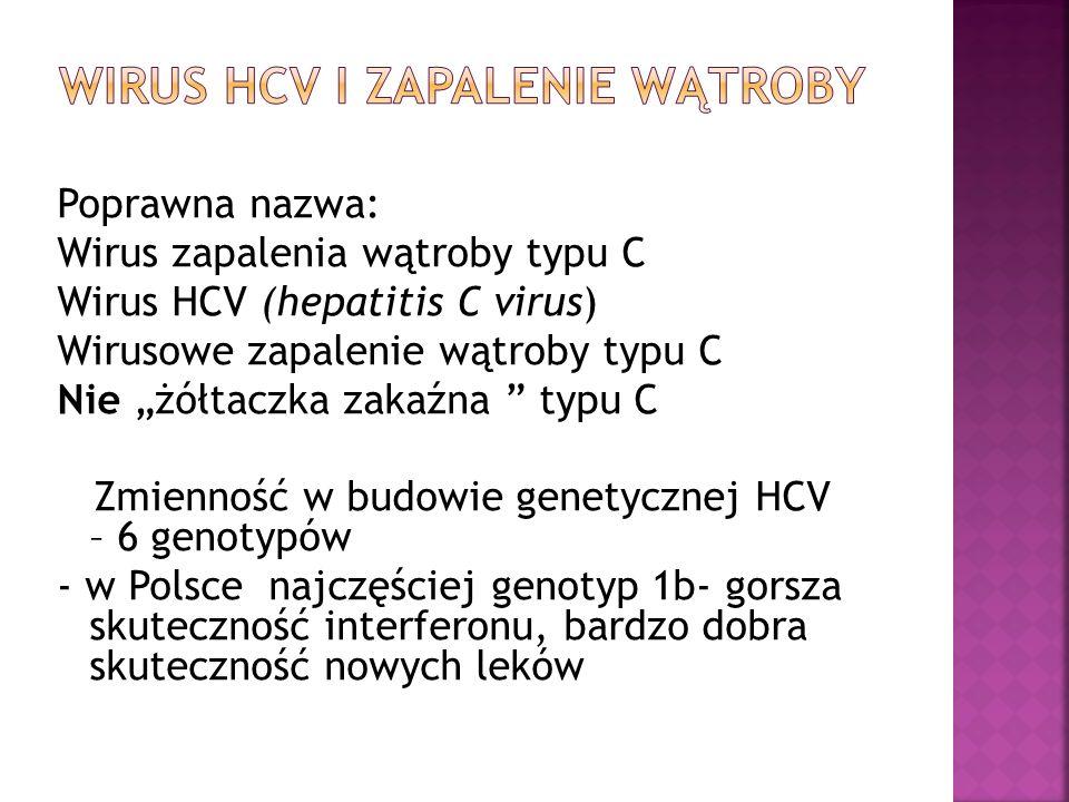 Wirus HCV I zapalenie wątroby