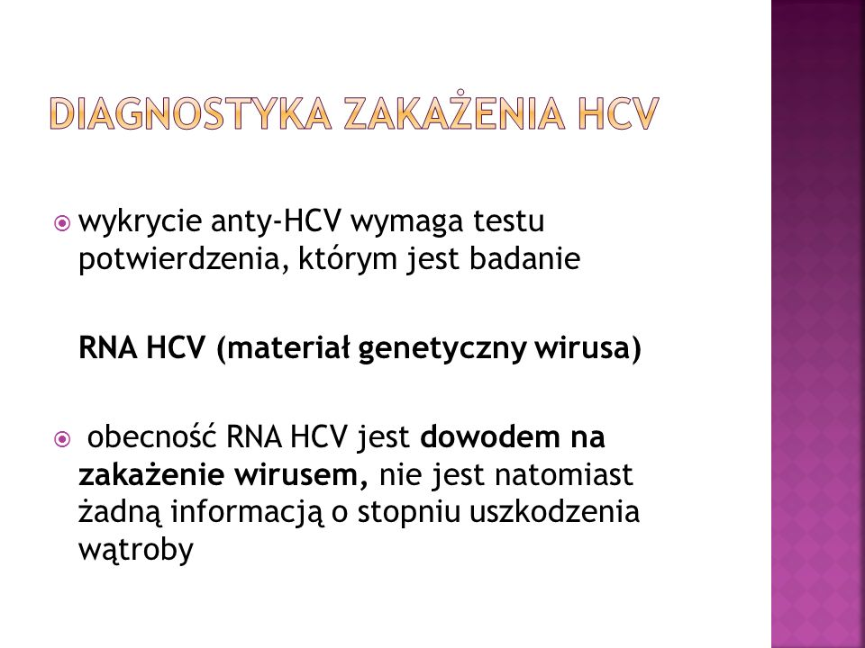Diagnostyka zakażenia HCV