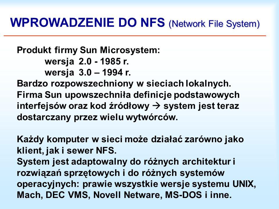WPROWADZENIE DO NFS (Network File System) _______________________________________________________________________________________