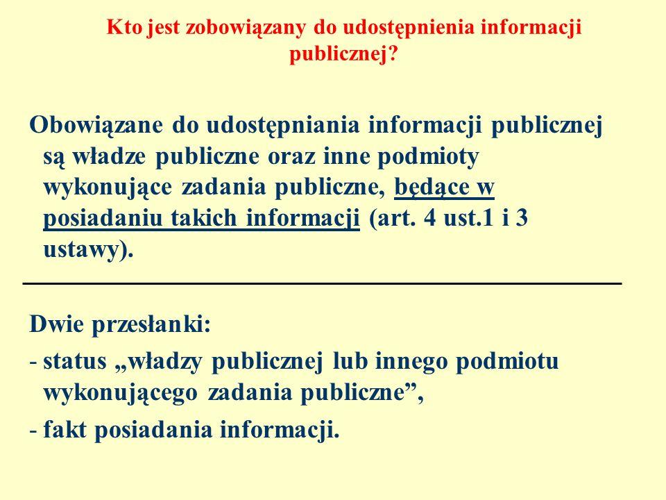 Kto jest zobowiązany do udostępnienia informacji publicznej