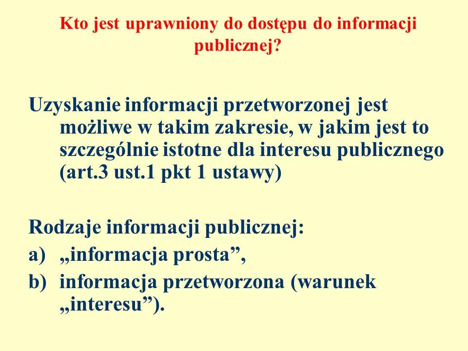 Kto jest uprawniony do dostępu do informacji publicznej