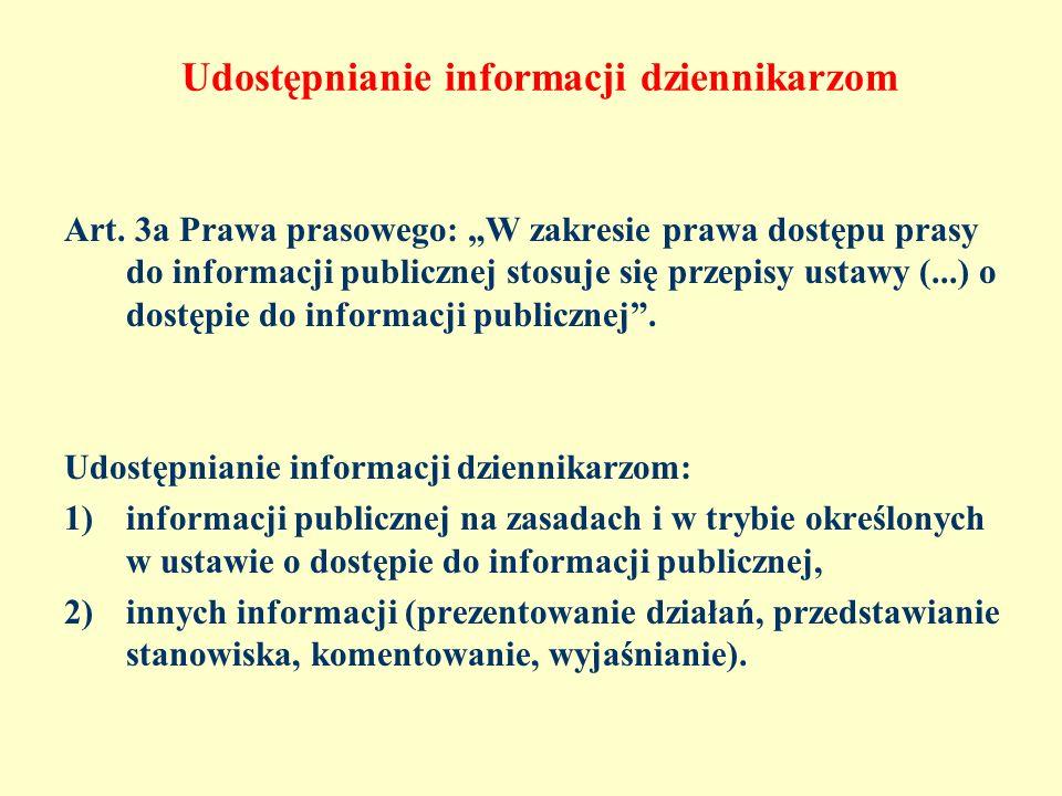 Udostępnianie informacji dziennikarzom