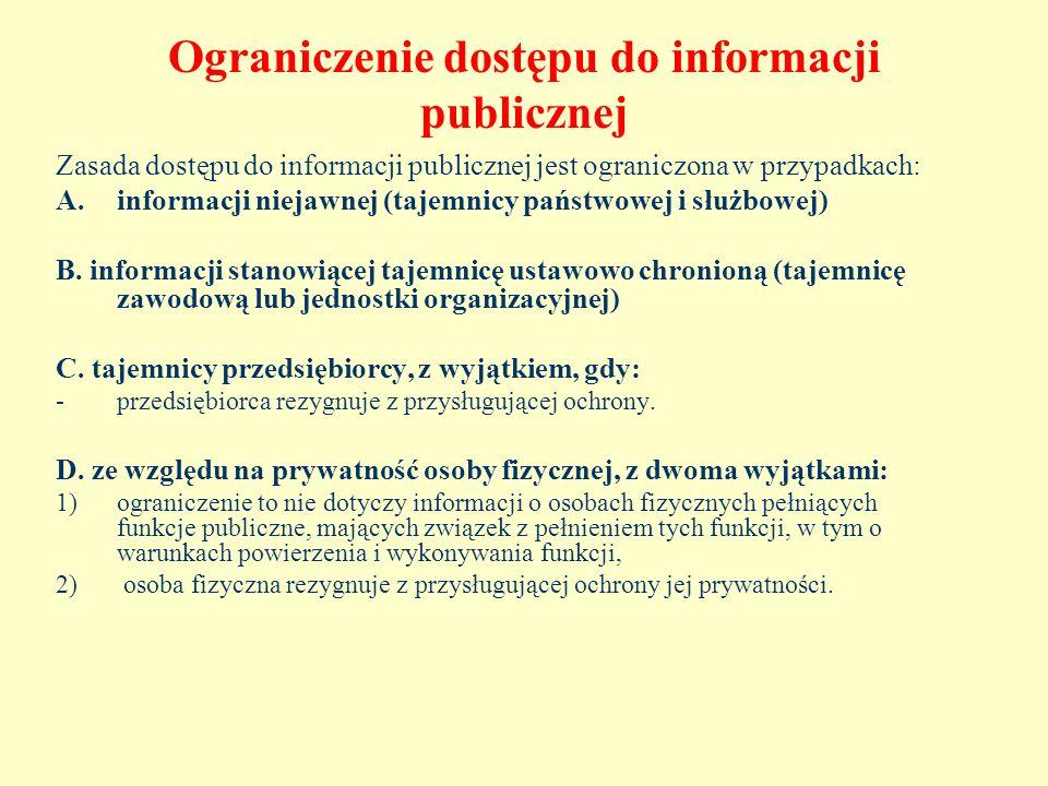 Ograniczenie dostępu do informacji publicznej