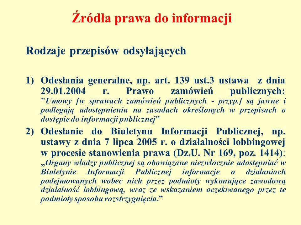 Źródła prawa do informacji
