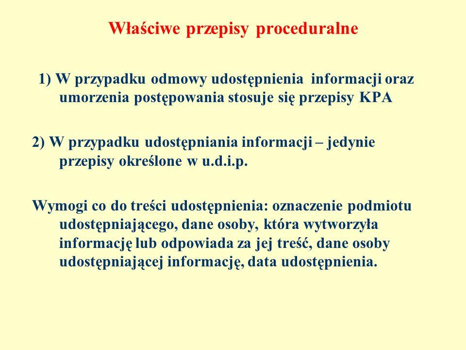Właściwe przepisy proceduralne