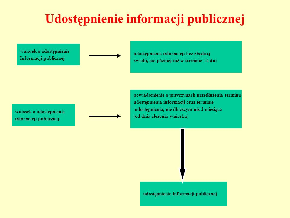 Udostępnienie informacji publicznej