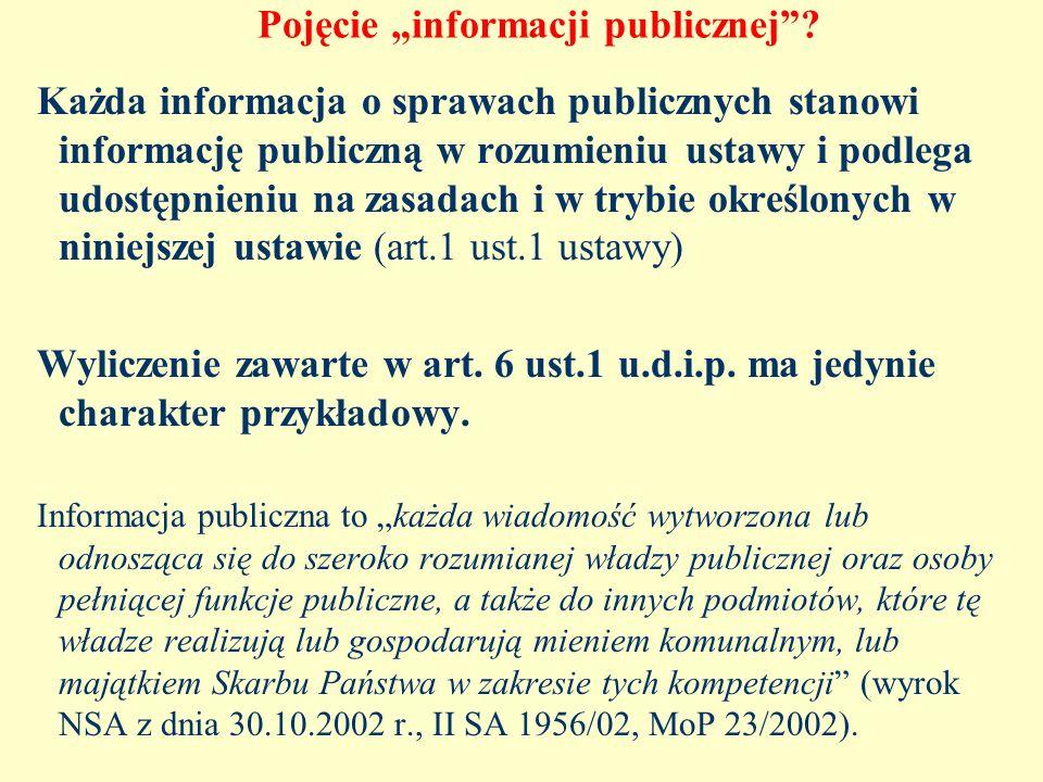 """Pojęcie """"informacji publicznej"""