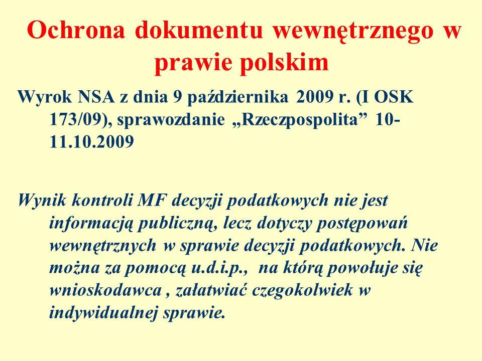 Ochrona dokumentu wewnętrznego w prawie polskim