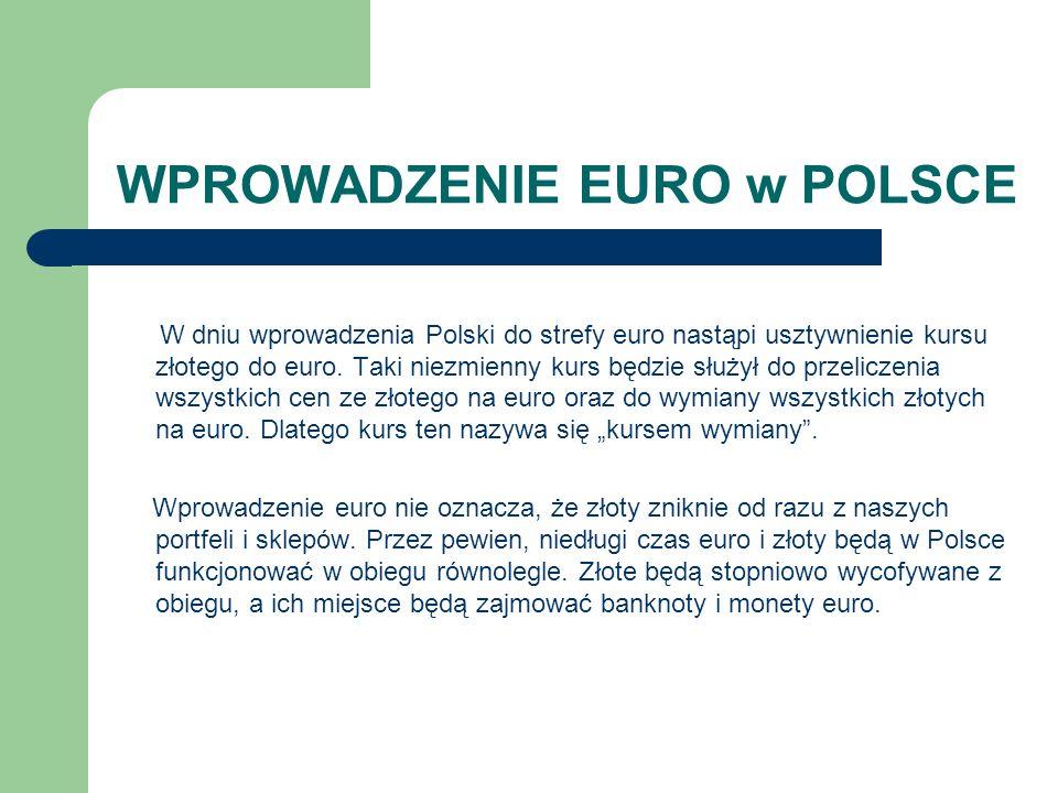 WPROWADZENIE EURO w POLSCE