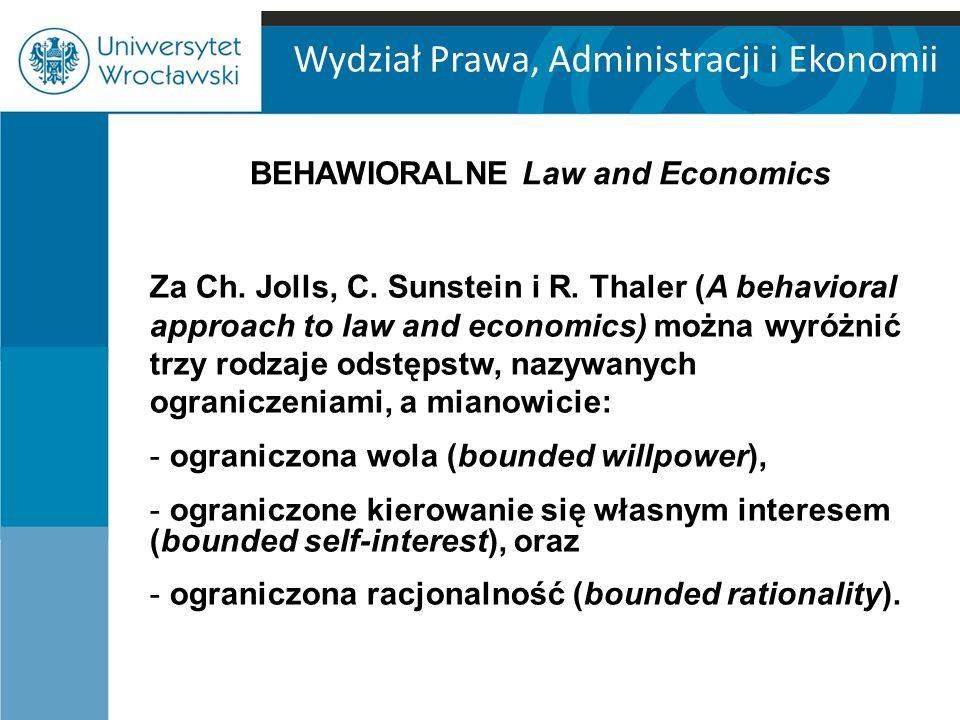 BEHAWIORALNE Law and Economics
