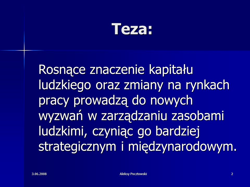 Teza: