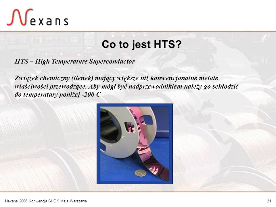Co to jest HTS HTS – High Temperature Superconductor