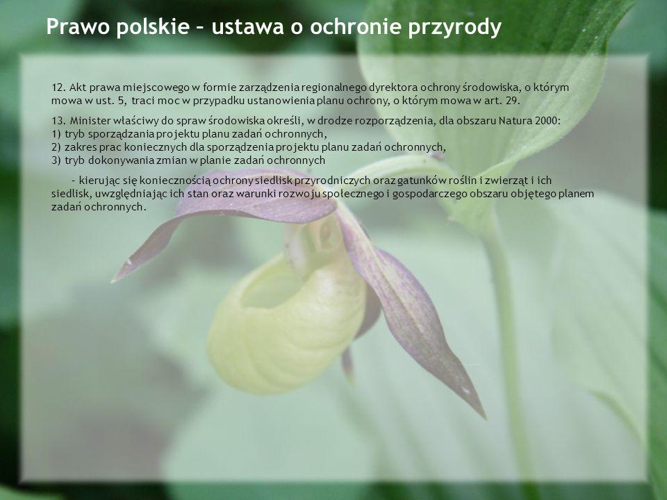 Prawo polskie – ustawa o ochronie przyrody
