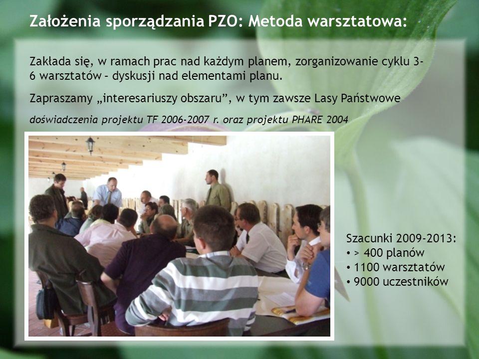 Założenia sporządzania PZO: Metoda warsztatowa:
