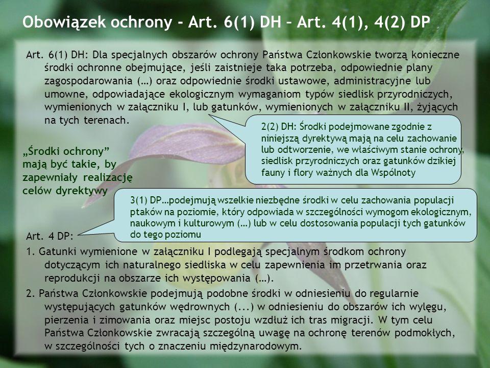Obowiązek ochrony - Art. 6(1) DH – Art. 4(1), 4(2) DP