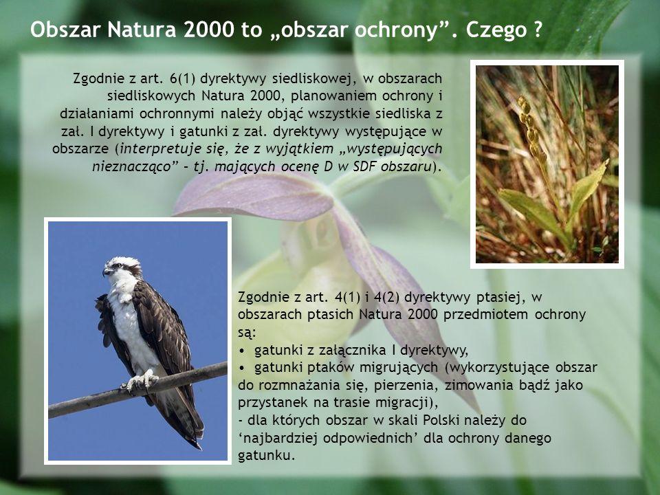 "Obszar Natura 2000 to ""obszar ochrony . Czego"
