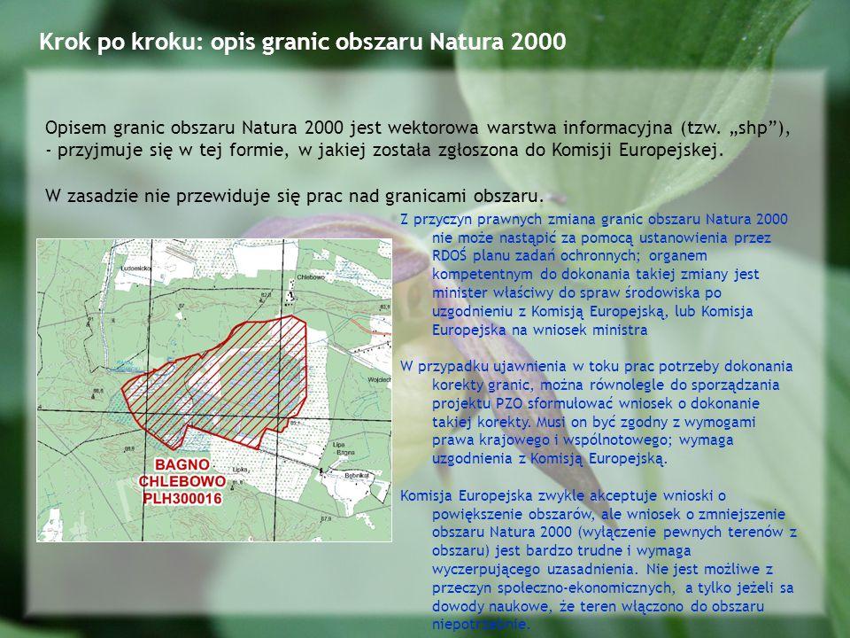 Krok po kroku: opis granic obszaru Natura 2000