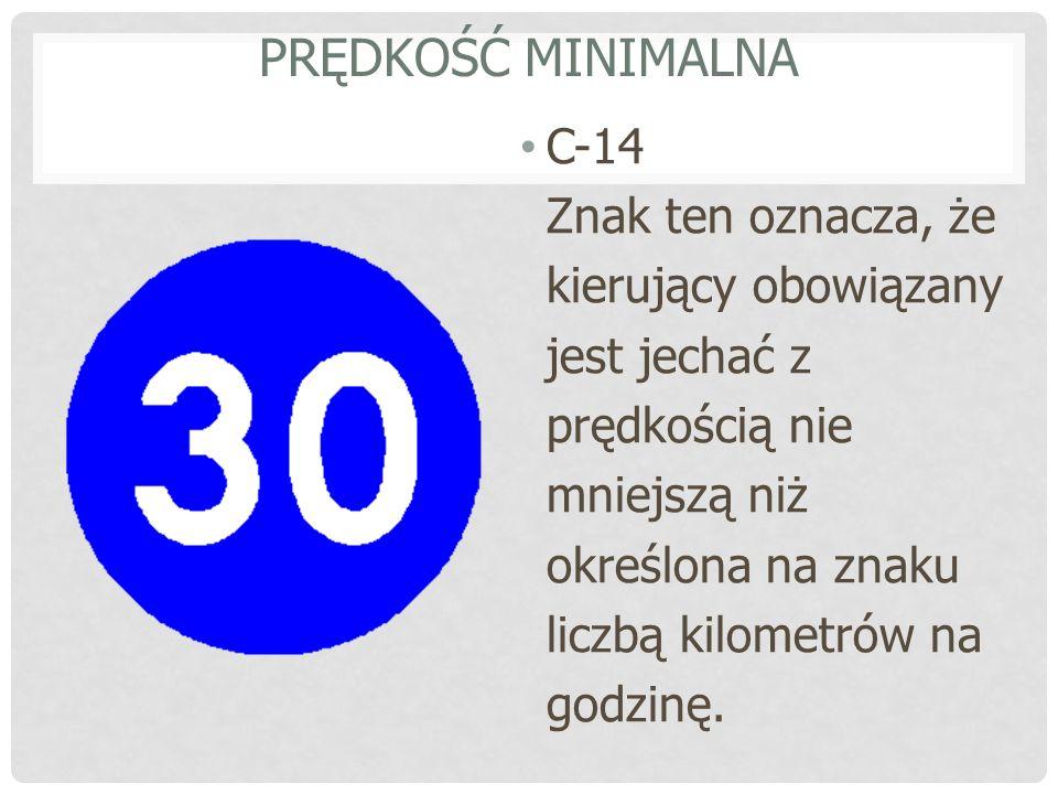Prędkość minimalna