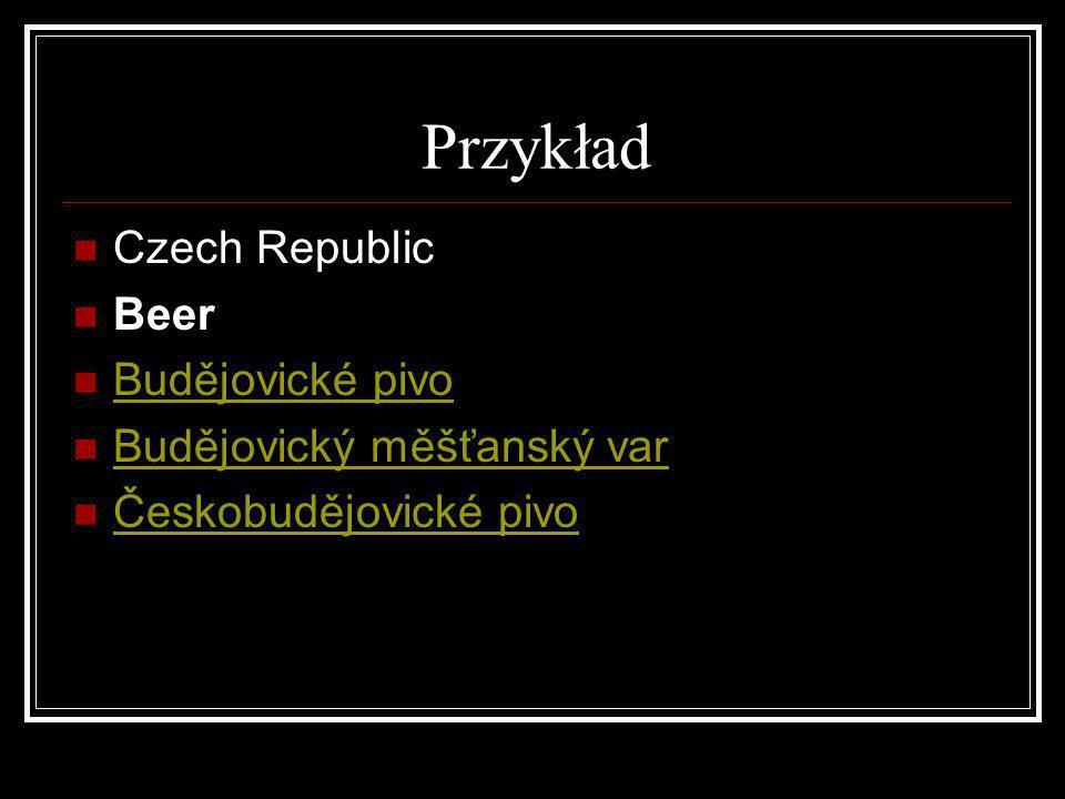 Przykład Czech Republic Beer Budějovické pivo