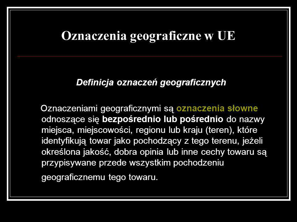 Oznaczenia geograficzne w UE